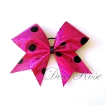 Hot Pink Polka Dot Bow