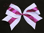 Basic Bow with Pink Glitter Stripe