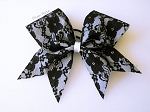 Black and White Lace Bow