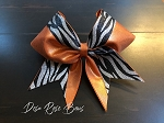 Feel The Heat Orange Cheer Bow
