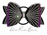 Sophia Tailless Glitter Bow - You choose colors- Rhinestone Dolly Bow