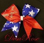 Star Burst Rhinestones Bow