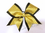 Black and Gold Glitter Bow