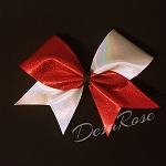 Red and Silver Tick Tock Bow