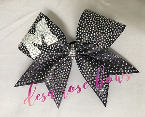 Full Out Bling Bow With Customizable Letter