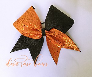 Shine Brighter Bow in Orange and Black