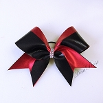Red and Black Glitz Wave Bow