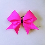 Hot Pink Cheer ~ Sports Hair Bow