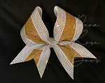 Extreme Bling Stripe Bow