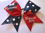 Customized Nationals Disney Themed Cheer Bow